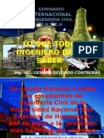 Lo Que Todo Ingeniero Debe Saber - Mg. Ing. Genaro Delgado Contreras