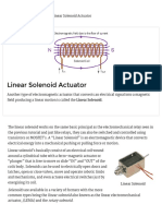 Linear Solenoid Actuator Theory and Tutorial