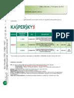 Presupuesto Licenciamiento Antivirus Kaspersky CG Colortex 16-8-16