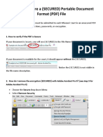 How to Unsecure a File in SECURED Portable Document Format Posted