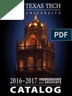 2016-17 Catalog TTU