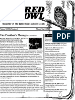 March-April 2005 Barred Owl Newsletters Baton Rouge Audubon Society