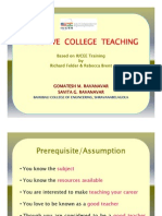 Effective College Teaching - Final [Compatibility Mode]