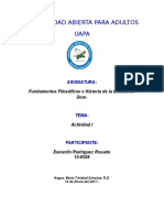 Tarea i Fundamentos Filosoficos e Historia de La Educacion Dominicana