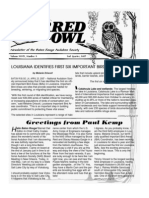 2nd Quarter 2007 Barred Owl Newsletters Baton Rouge Audubon Society
