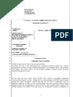 23 September Litigation Drafts vs County of Orange CA