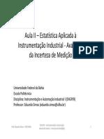 Aula II - Estatística Aplicada à Instrumentação