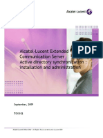 Alcatel-Lucent Extended Communication Server Active Directory Synchronization - Installation and Administration (1)