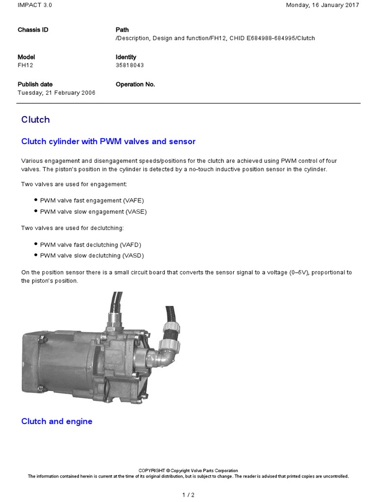 Clutch Cylinder With Pwm Valves And Sensor Pdf