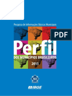 Perfil Dos Municipios Brasileiros Ibge