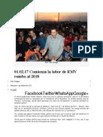 01.02.17 Comienza La Labor de RMV Rumbo Al 2018