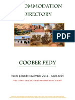 Coober Pedy Accommodation Winter & Summer