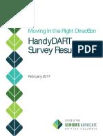 HandyDart Survey Results