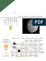 Calendario Astronomico Marzo 2017