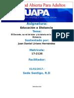 Juan Daniel Liriano H. Educacion a Distancia Tarea #3