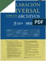 Declaración Universal Sobre Los Archivos ICA