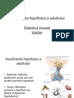18 Ian Insuficienta Hipofizara a Adultului, Diabet Insipid, SIADH - Prof. Fica