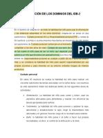 DESCRIPCIÓN DE LOS DOMINIOS DEL IDB