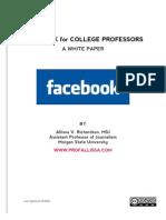 Facebook for College Professors