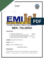 DESPARAFINACION MEK TOLUENO