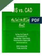 CAD vs. GIS