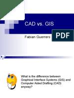 CAD vs GIS