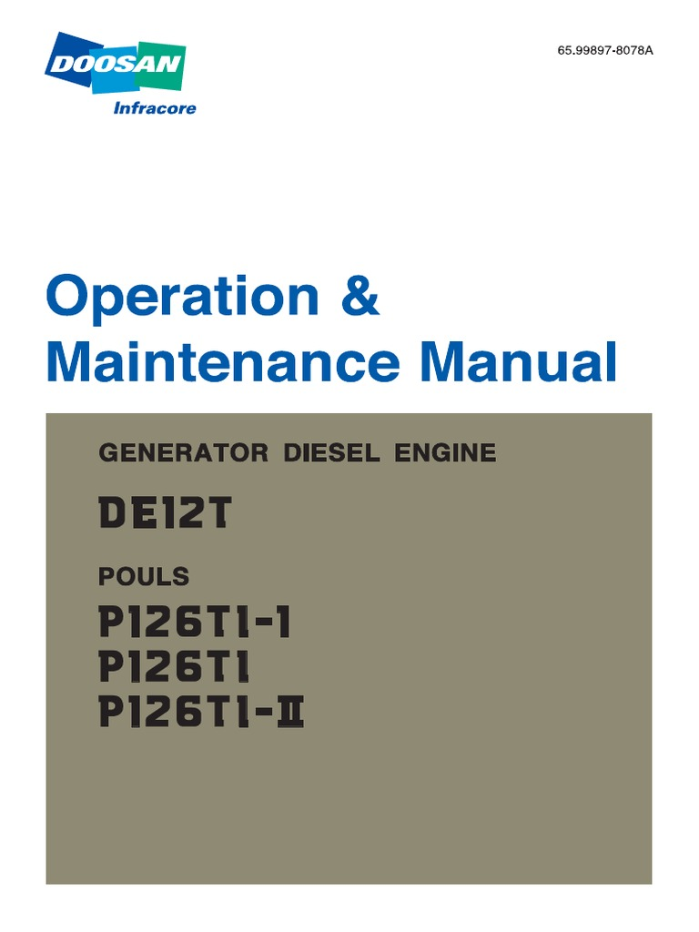 Manual Oper-Man do Motor P126TI-II.pdf | Internal Combustion Engine |  Turbocharger