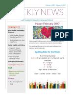 weekly newsletter- feb 6- feb  10