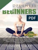 Mindfulness for Begginners - Simon Gray