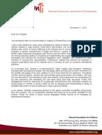 Letter of Recommendation - Adriana Ruiz