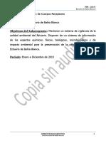 PIM 2015 Subprograma Estuario de Bahia Blanca