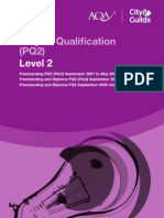 AQA - BAF DIPLOMA - PQ SPEC 09 - LEVEL 2