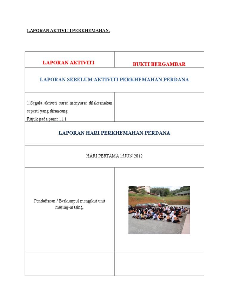 Format Contoh Laporan Aktiviti Bergambar