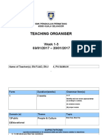 Tch Organiser -Week 1-3