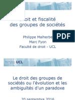 20 09 2016 Le Droit Des Groupes