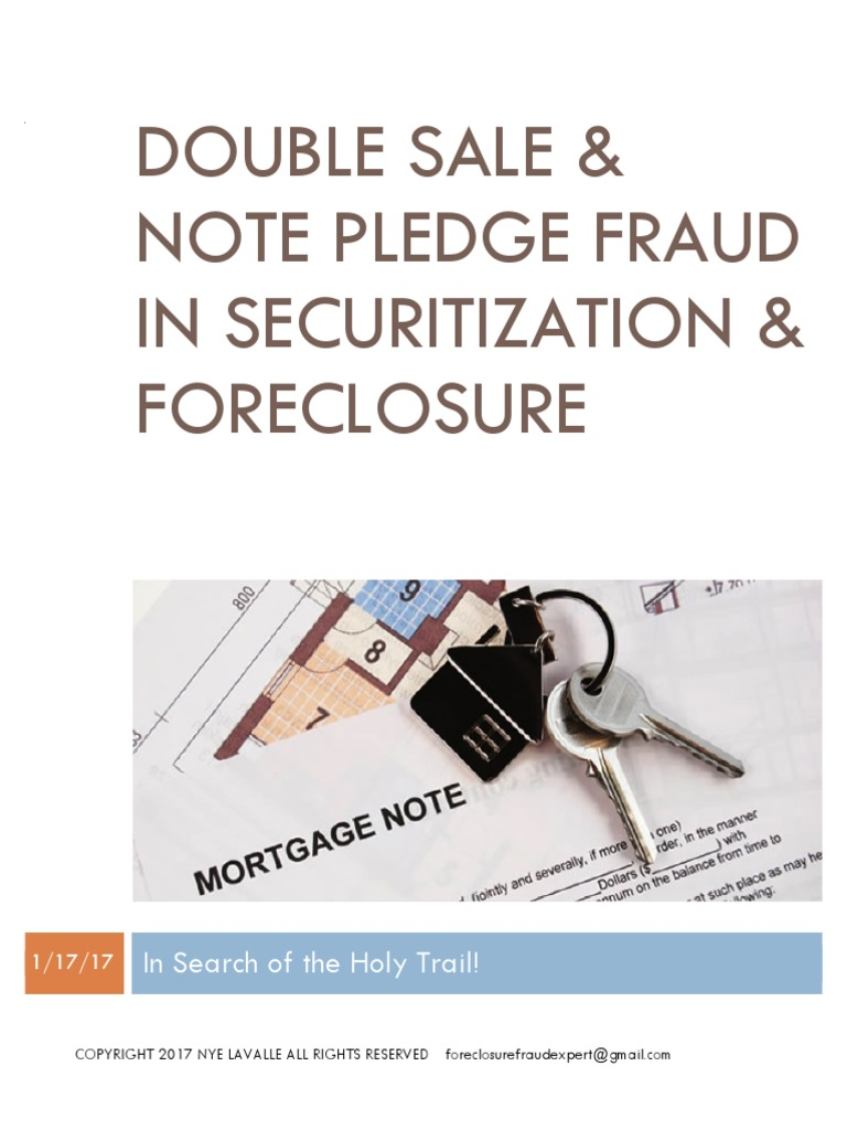 Final Double Pledge Report Mortgage Loan Foreclosure