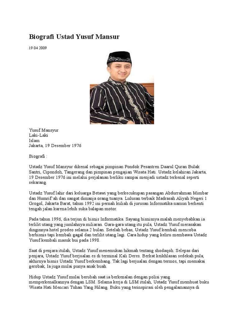 Biografi Ustad Yusuf
