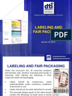 C.6 Labeling and Fair Packaging