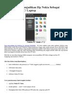 Cara Mudah Menjadikan Hp Nokia Sebagai Modem Pada P1