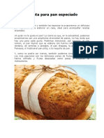 Receta Para Pan Especiado