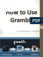 How to Use Gramblr to Manage Instagram Account on a PC - Jayvee Cochingco - The Virtual Master