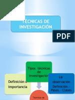Tecnicas de Investigacion Expo