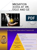 Innovation process at 3m, Google and ge