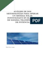 Metodologias Para Operar Un Sist Solar Fv en El Mppt