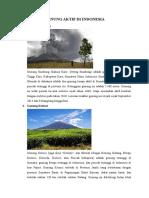 Gunung Aktif Di Indonesia