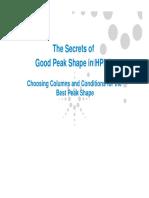 Secrets of Good Peak Shape in Hplc