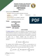Investigacion 8 Cuadratura de Gauss