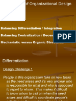 CHALLANGES of Organizational Design