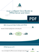 Configuring PPPoE Server &Client on Cisco Routers