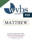Matthew's Gospel Notes